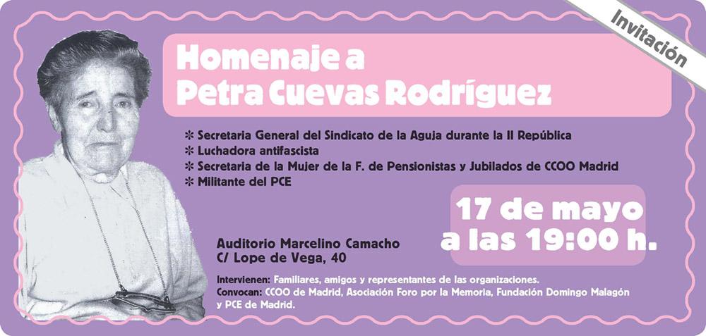 17 5 12 Homenaje A La Luchadora Petra Cuevas De 103 Años
